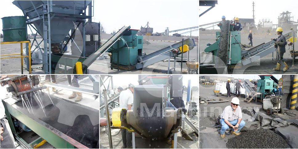 4 ton per hour medium coal dust briquette production project in Peru