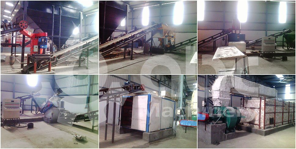 1 ton per hour small scale coal briquetting plant project in India