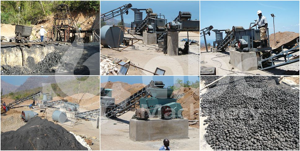 15 ton per hour coal briquetting production line project set up in Malawi