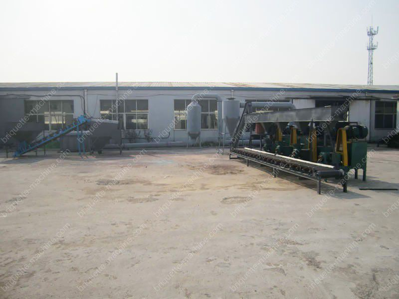 Panoramic view of the briquette plant