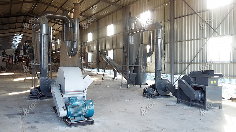 fuel briquette production line for making charcoal from biomass and wood wastes