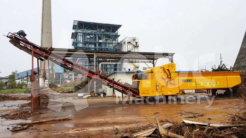 large wood shredding equipment for wood processing industry