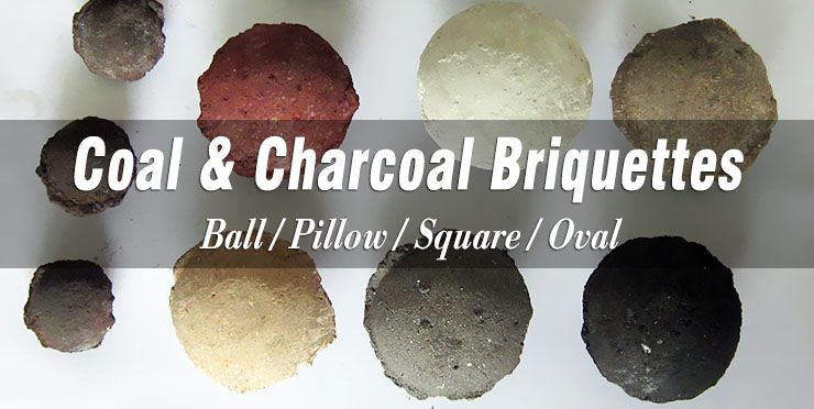 coal charcoal briquettes in different shapes