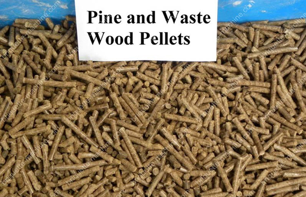 pine and waste wood pellets