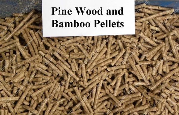 pine wodd and bamboo pellets