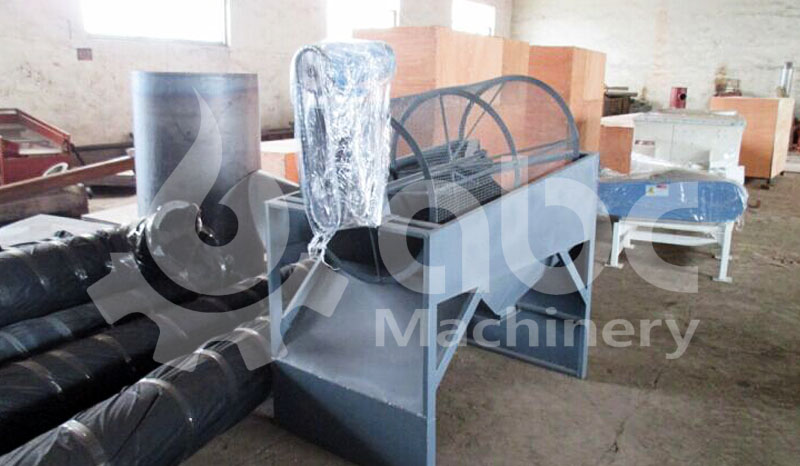 saw dust rotary screen machine - preprocessing of wood briquette making
