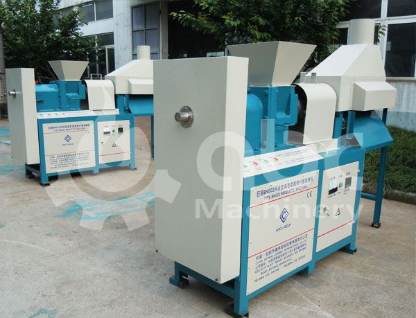 screw briquetting machine for extruding biomass and wood fuel briquettes