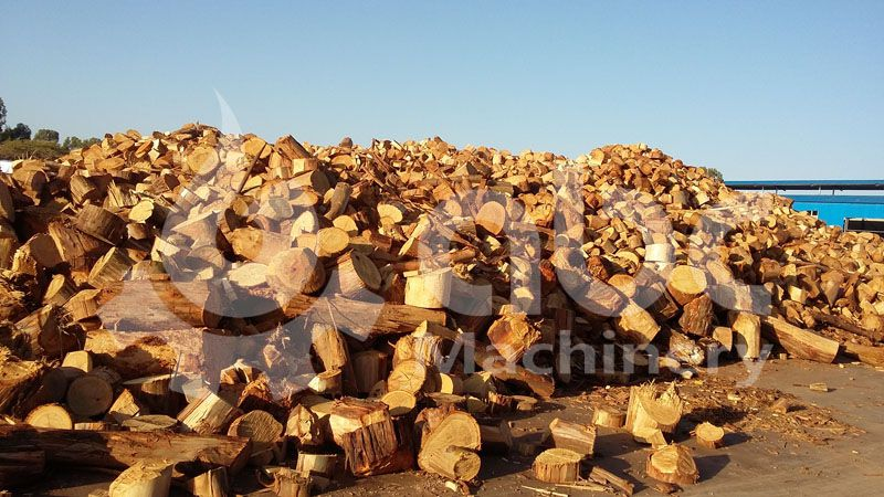 wood wastes for making charcoal briquettes
